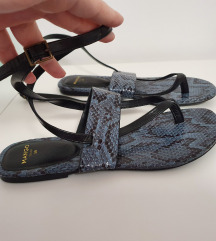 MANGO sandale,rimljanke, snake print