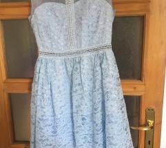 Svetlo plava cipkana haljinica