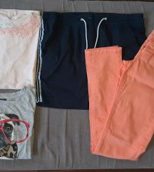 Paket za devojcicu od 12-14god-majice,suknja