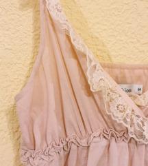 Roze romantična haljina
