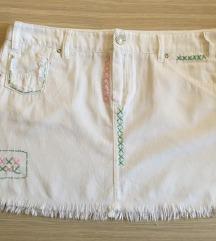 Bela mini suknja NOVO