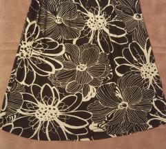 Letnja cvetna crno-bela suknja