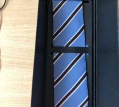 Nova original kravata Maruska plava 100%  svila