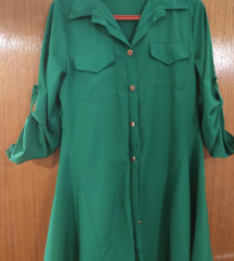 Kratka zelena haljinica