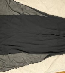 Crna dugačka mesh suknja