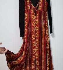 Vintage midi haljina od indijskog platna, Novo,