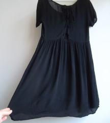 H&M oversized haljina/tunika sa pertlanjem
