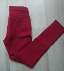 Crvene high waist skinny pantalone S/M