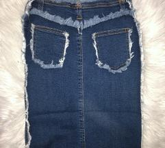 Yeans suknja Snizena 2000