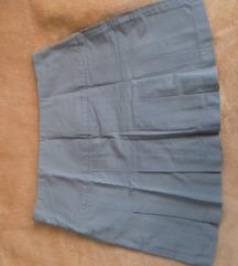 Saint Tropez kratka suknja bež boje sa faltama