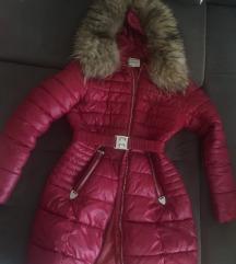 Bordo jakna sa pravim krznom