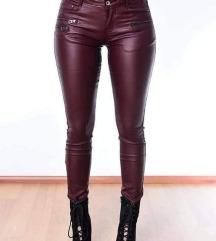 Nove bordo kožne pantalone