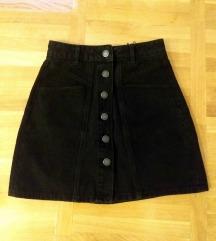 Crna mini suknja - Stradivarius