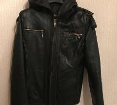 Crna kozna jakna SINŽENA