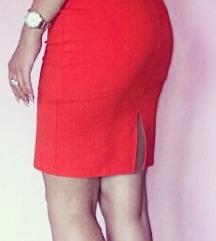 H&M koralna haljina S