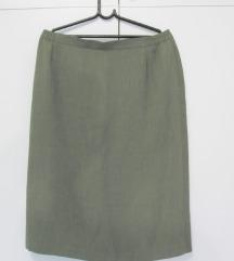 Zelena klasična suknja vel. L