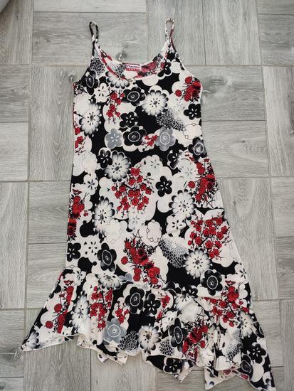 Cvetna asimetricna haljina vel M