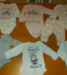 Lot odece za bebe devojcice 62 68 74