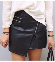 H&M crna kožna suknja