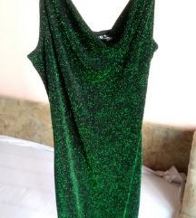 H&M smaragdno zelena haljinica NOVO