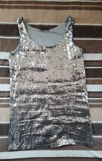 Srebrna haljina top