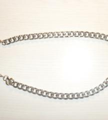OGRLICA DEBEO LANAC- srebrna boja