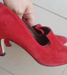 %%1.100-Vintage kožne antilop cipele, prava koža