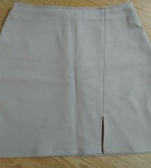 Bež kratka suknja