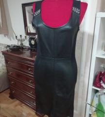 Janina haljina sa kožnim detaljima