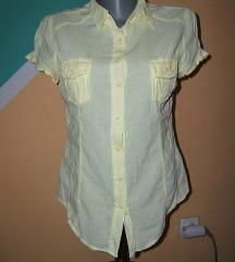 Lagana pamučna pastelno žuta košulja