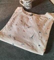 Svakodnevna majica sa Ajfelovom kulom i srcima