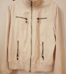 Bela kozna jakna xl
