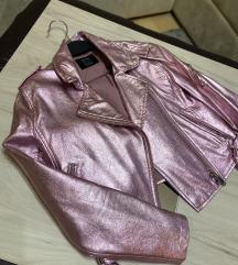 Metalic roza jakna