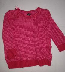Pink džemperic S, M AKCIJA