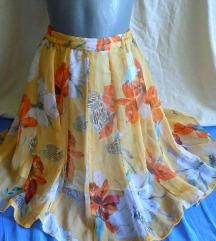 Vintage,letnja suknja dubokog struka S/XS