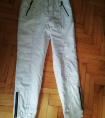 Ski pantalone bele