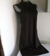 List crna svilena haljina M