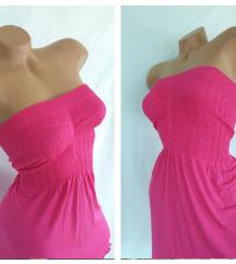 OCEAN CLUB Beach Dress ★ pink stretch haljina NOVO