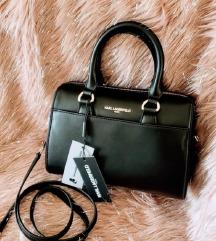 Karl Lagerfeld crna kožna torba