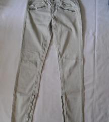 Bež pantalone sa zipom Perfect jeans