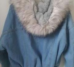 Nova teksas jakna sa krznom snizena na 3500