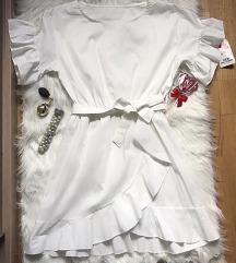 Bela drap haljina sa karnerima NOVA