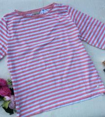 STRANDFEIN roze bela pamučna majica Nova