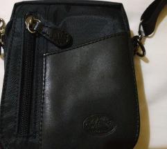 Muška torba sa kožnim detaljem