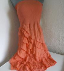 Narandzasta top haljinica S/M