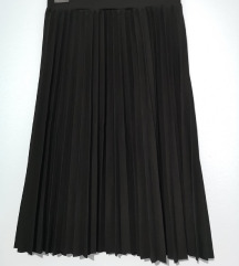 Nova crna plisirana suknja, midi duzine