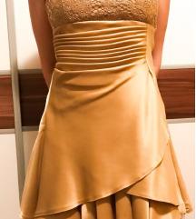 Elegantna haljina boje starog zlata, unikatna