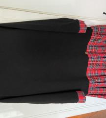 Crna karirana haljina