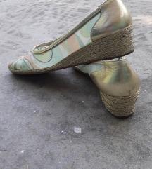 SANDRO VICARI Italy zeleno zlatne espadrile