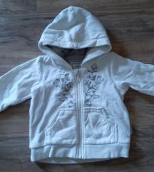 H&M decija bela jaknica sa krznom Vel 74